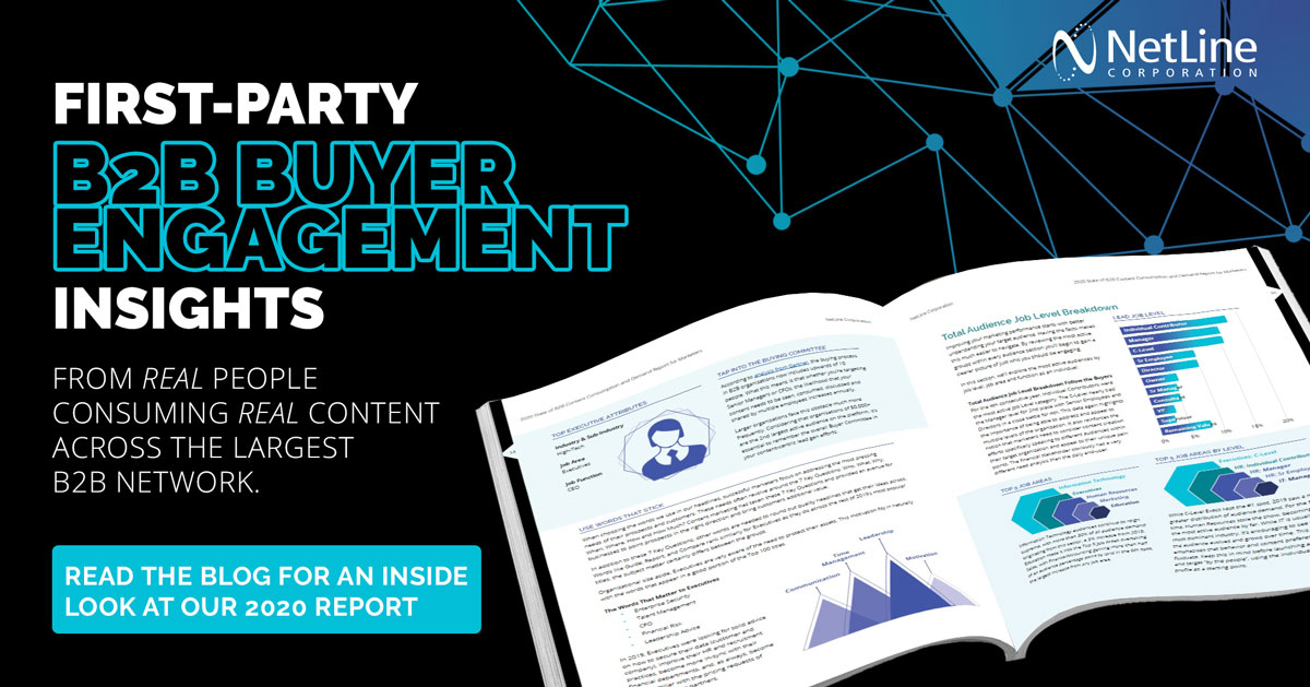 NetLine's 2020 Content Consumption Report features real B2B buyer insights from millions of downloads.